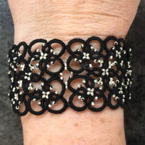 Armband Square schwarz chrome