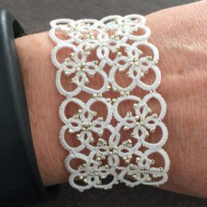 Armband Square weiss