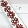 Armband Flower bordeaux