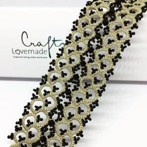 armband festive metallic gold