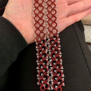 Armband Festive in rot metallic lovemadecrafts