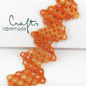 Armband criss cross orange