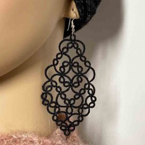 ohrringe elegance schwarz metallic detail