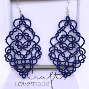 Ohrringe Elegance in metallic blau