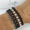 Armband Grace in schwarz