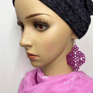 Ohrring Starlet pink mit Perlen