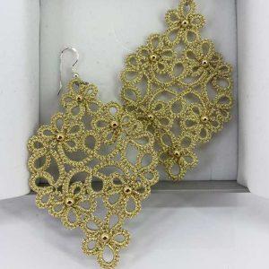 Ohrringe Starlet mit Perlen gold metallic