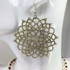 Ohrringe Camellia gold metallic