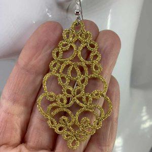 Ohrring Paris gelb-gold
