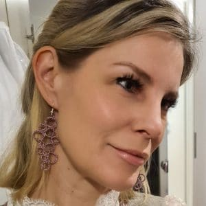 Ohrringe Bubbles fliedermetallic Kerstin Reitterer im Detail