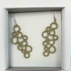 ohrringe bubbles gold metallic