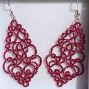 Ohrringe pink metallic