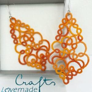 Ohrringe Paris in orange meliert in der Box
