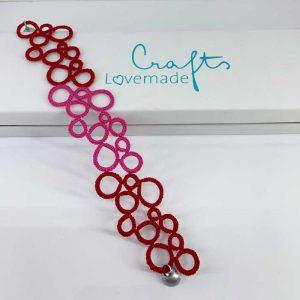 Armband rot-rosa