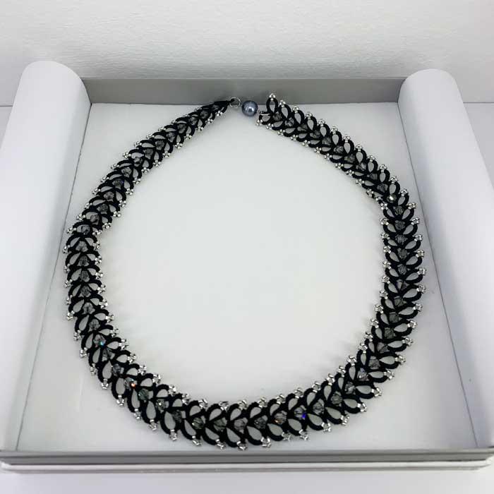 Schmuckbox Collier Halskette schwarz