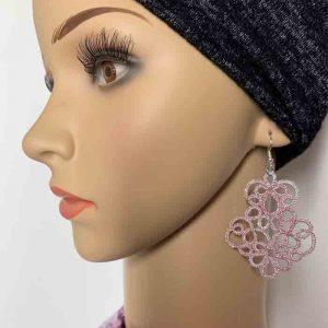LovemadeCrafts Ohrringe Calantha rosa silber metallic