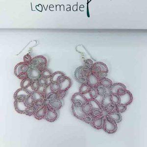LovemadeCrafts Ohrringe Calantha rosasilber metallic