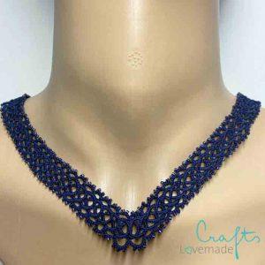 Halskette Charlene in dunkelblau