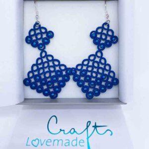 Ohrringe Scarletta due in blau in Geschenkbox