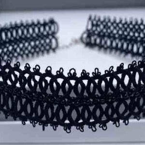 Kropfband Infinity in schwarz